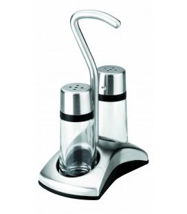 Sel-poivre shakers – Luxe avec support de Lacor