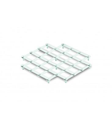 Tapis de table carrée inox Lacor