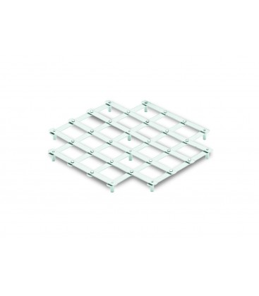 Lacor stainless square table mat