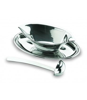 Gravy boat Luxe with a spoon of Lacor