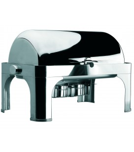 Chafing Dish Roll Top stainless 1/1 Gastronorm of Lacor