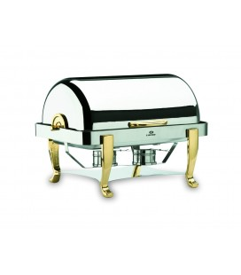 Chafing Dish Roll Top legs brass 1/1 of Lacor