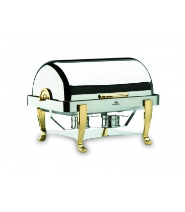 Chafing Dish Roll Top jambes en laiton 1/1 de Lacor