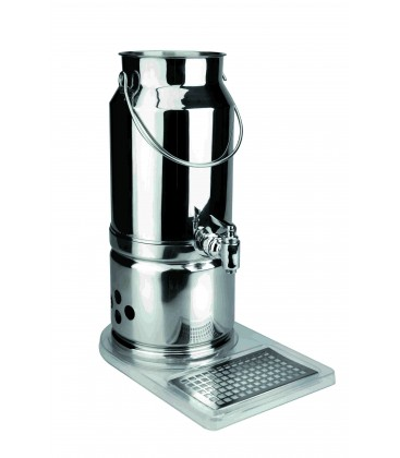 18/10 stainless Lacor milk dispenser