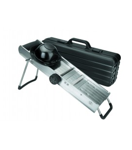Mandolina Inoxidable con Protector Cuchillas Revolver