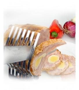 Peigne courte viande en acier inoxydable de Lacor