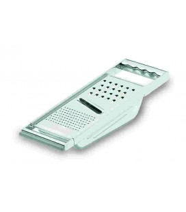 3 applications with container 18/10 stainless steel grater