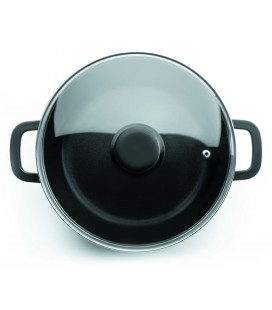 Cast aluminium round Casserole with glass lid Forte