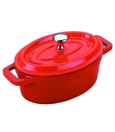 Fonte d'aluminium avec couvercle casserole Lacor de Mini ovale