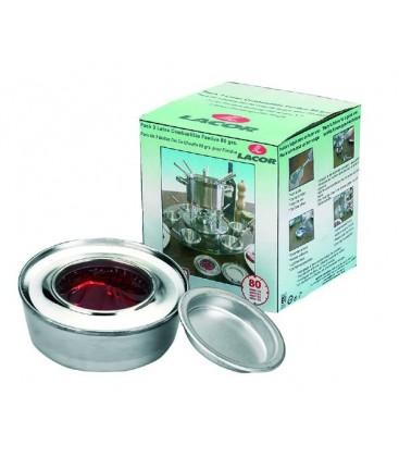 Pack de 3 boîtes Fondue carburant 80 Grs de Lacor
