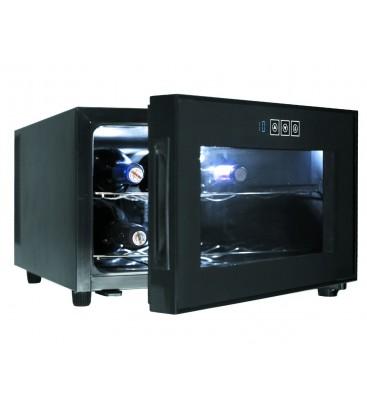 Bouteilles de Cabinet noir ligne horizontale 8 réfrigérateur de Lacor