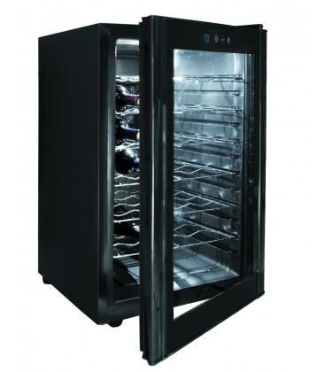 Bouteilles de Cabinet noir ligne 28 réfrigérateur de Lacor