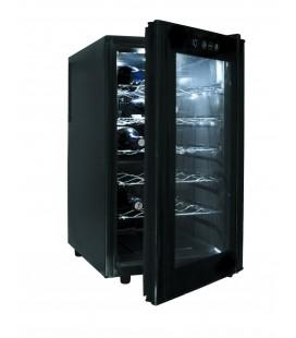 Bouteilles de Cabinet noir ligne 18 réfrigérateur de Lacor