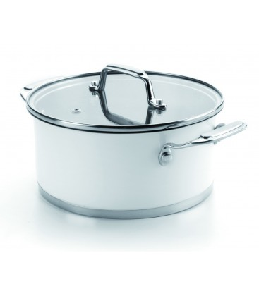 Casserole with lid White of Lacor