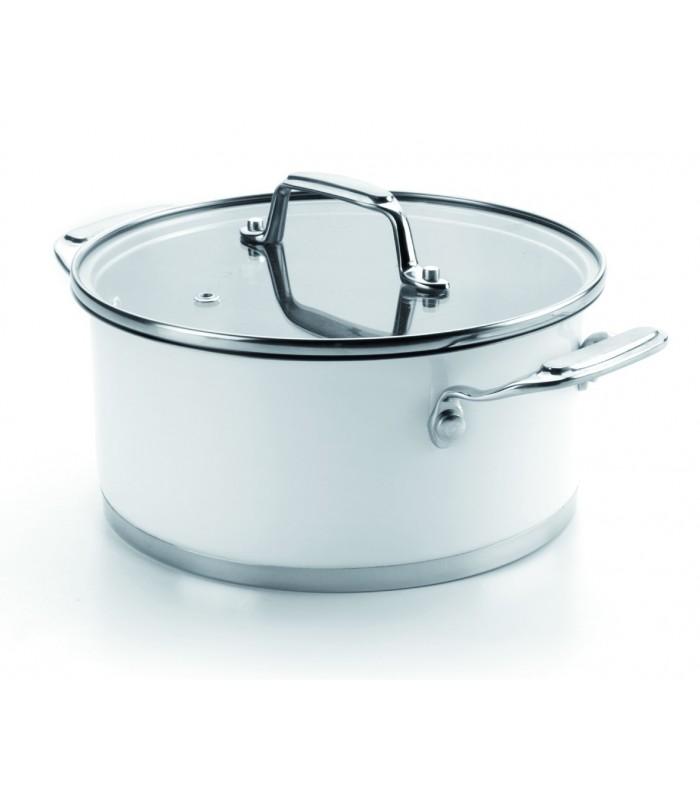 Faitout avec couvercle blanc de lacor Porte couvercle casserole
