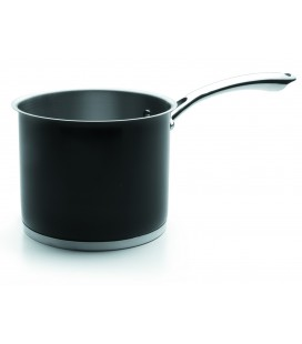 Cylindrical pot Black Lacor