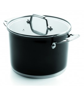 Stock pot with lid Black Lacor