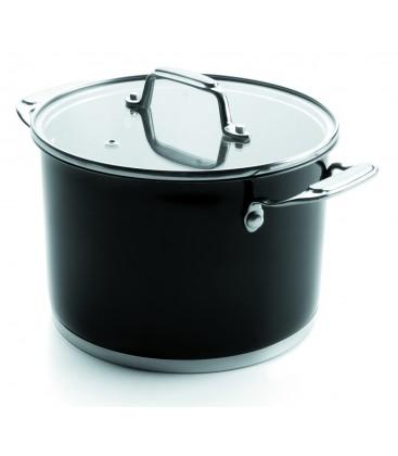 Stock pot with lid Black Lacor