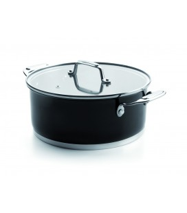 Casserole with lid Black Lacor