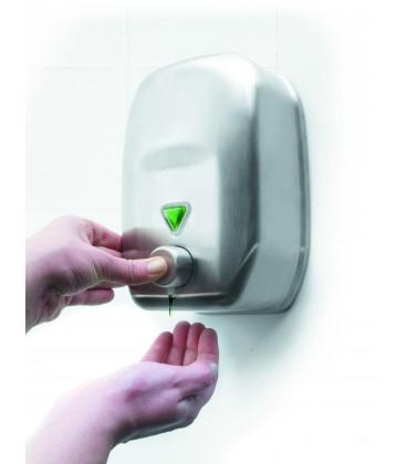 Distributeur de savon mural inox de lacor for Distributeur de savon mural design
