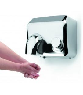 Sèche-mains avec bouton poussoir