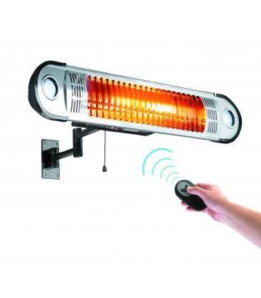 Calentador Eléctrico 1500W+control Remoto+Soporte Pared
