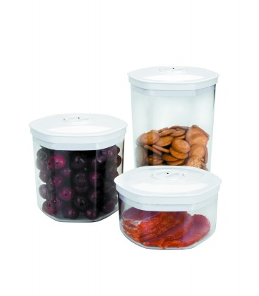 Set 3 canisters vacuum home 0.7-1.4-2.0 L of Lacor