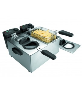 Double électrique friteuse 3,5 L X 2 4000 W de Lacor