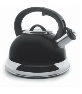 Whistling Kettle Black 2,5 litres of Lacor