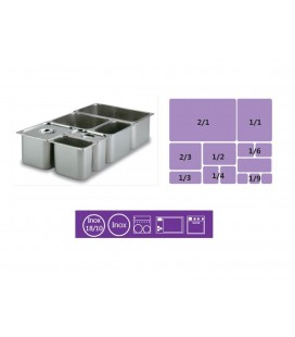 Tray GN 2/1 stainless steel 18/10 of Lacor