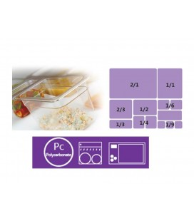 Double polycarbonate bottom perforated Gastronorm of Lacor