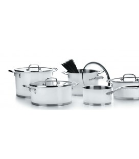 5-piece model of Lacor white Cookware