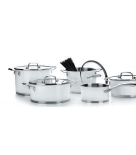5 pièces modèle de batterie de cuisine Lacor blanc