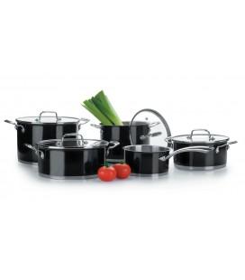 Batería de cocina de 5 piezas modelo black de Lacor