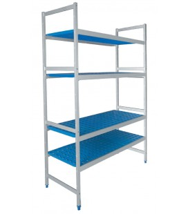 Triple shelving 4 racks of Lacor