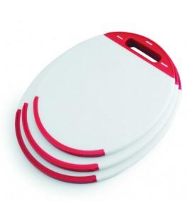 Oval Lacor polyethylene cutting board
