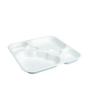 Tray self-service polycarbonate white Lacor