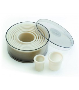 Box 9 tile round smooth nylon of Lacor