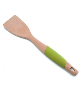 Espátula lisa madera haya + silicona de Lacor