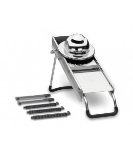 Mandoline stainless Luxe with 5 blades of Lacor
