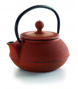 Lacor bamboo cast iron teapot