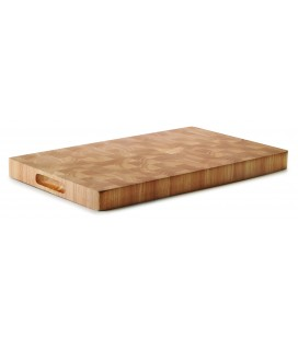 Tabla corte rubber wood 530x325x40 MM de Lacor