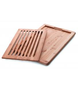 Couper le pain de 40 x 30 x 2 CM de la table de bambou Lacor