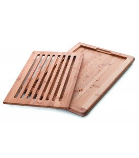 Tabla corte pan bambu 40x30x2 CM de Lacor