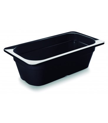 Black tray melamine gastronorm 1/3 of Lacor