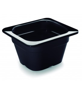 Black tray melamine gastronorm 1/6 of Lacor
