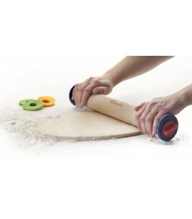 Rodillo amasar madera con anillas 34 CM de Lacor