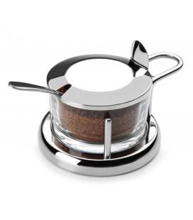 Fromage parmesan avec cuillère en acier inoxydable de Lacor