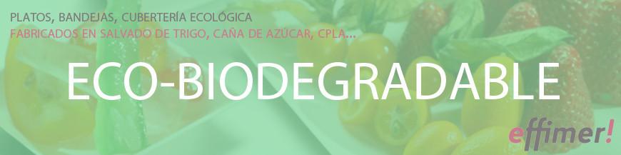 Servicio y cubertería ecológico y biodegradable